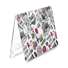 Lex Altern Hard Plastic MacBook Case American Street Sketch
