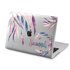 Lex Altern Lex Altern Purple Leaves Case for your Laptop Apple Macbook.