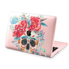 Lex Altern Hard Plastic MacBook Case Colorful Floral Skull