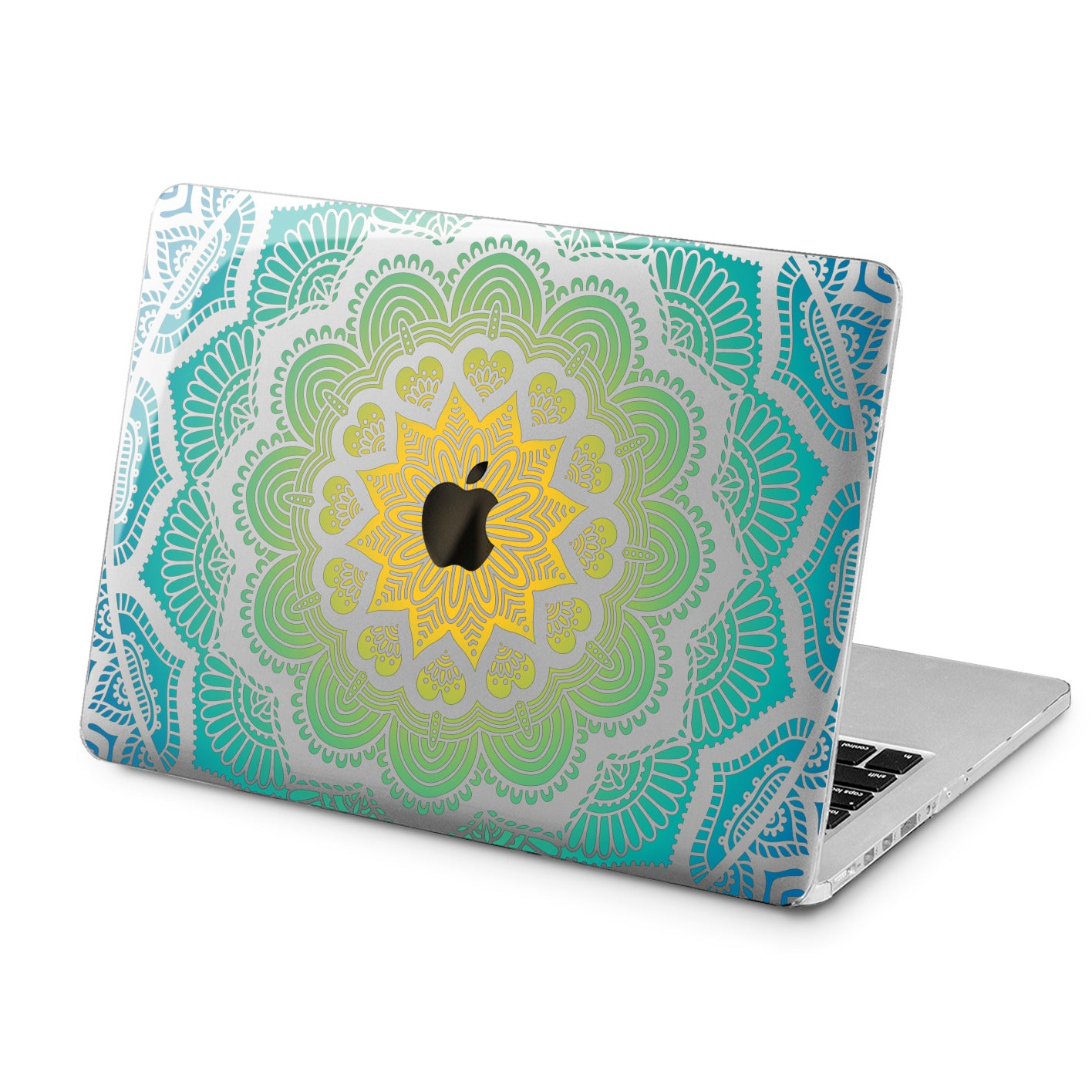 Lex Altern Lex Altern Green Mandala Case for your Laptop Apple Macbook.