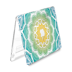 Lex Altern Hard Plastic MacBook Case Green Mandala