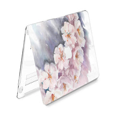 Lex Altern Hard Plastic MacBook Case White Jasmine Blossom