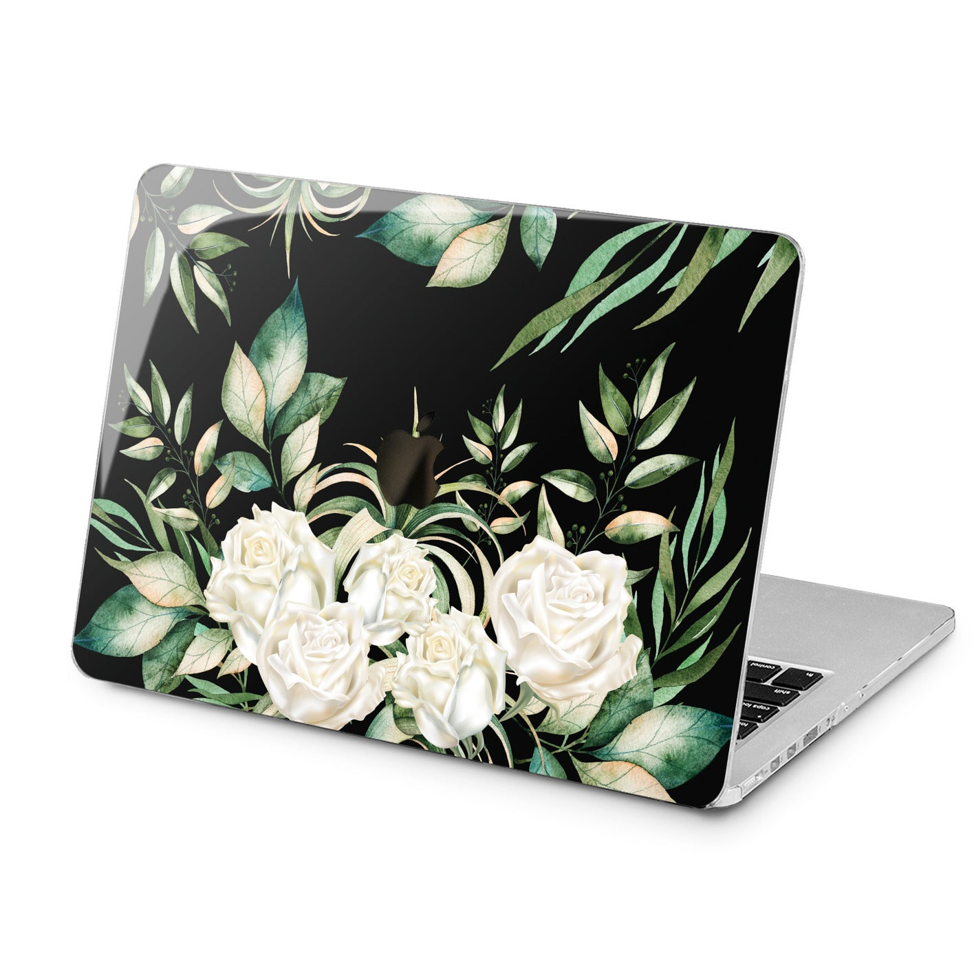 Lex Altern Lex Altern Beautiful White Roses Case for your Laptop Apple Macbook.