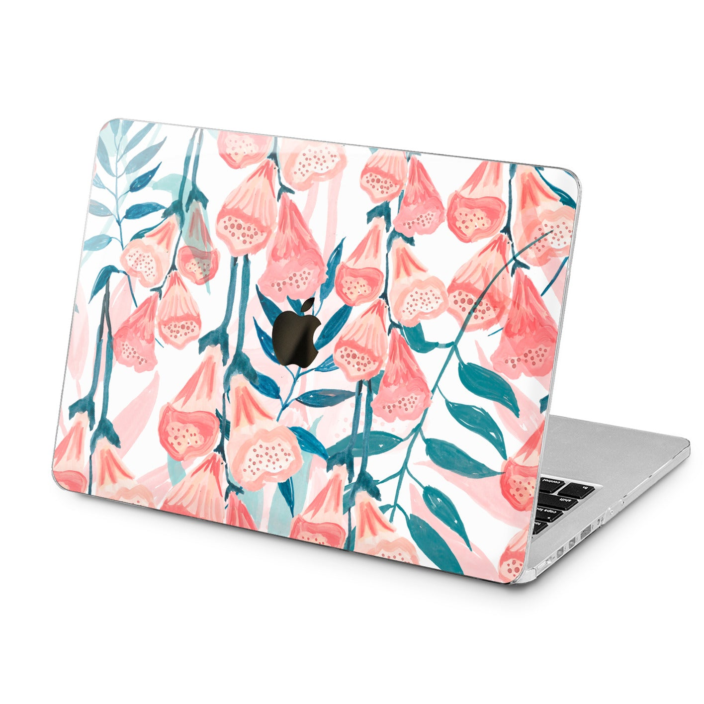 Lex Altern Lex Altern Watercolor Red Flowers Case for your Laptop Apple Macbook.