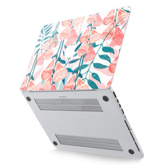 Lex Altern Hard Plastic MacBook Case Watercolor Red Flowers