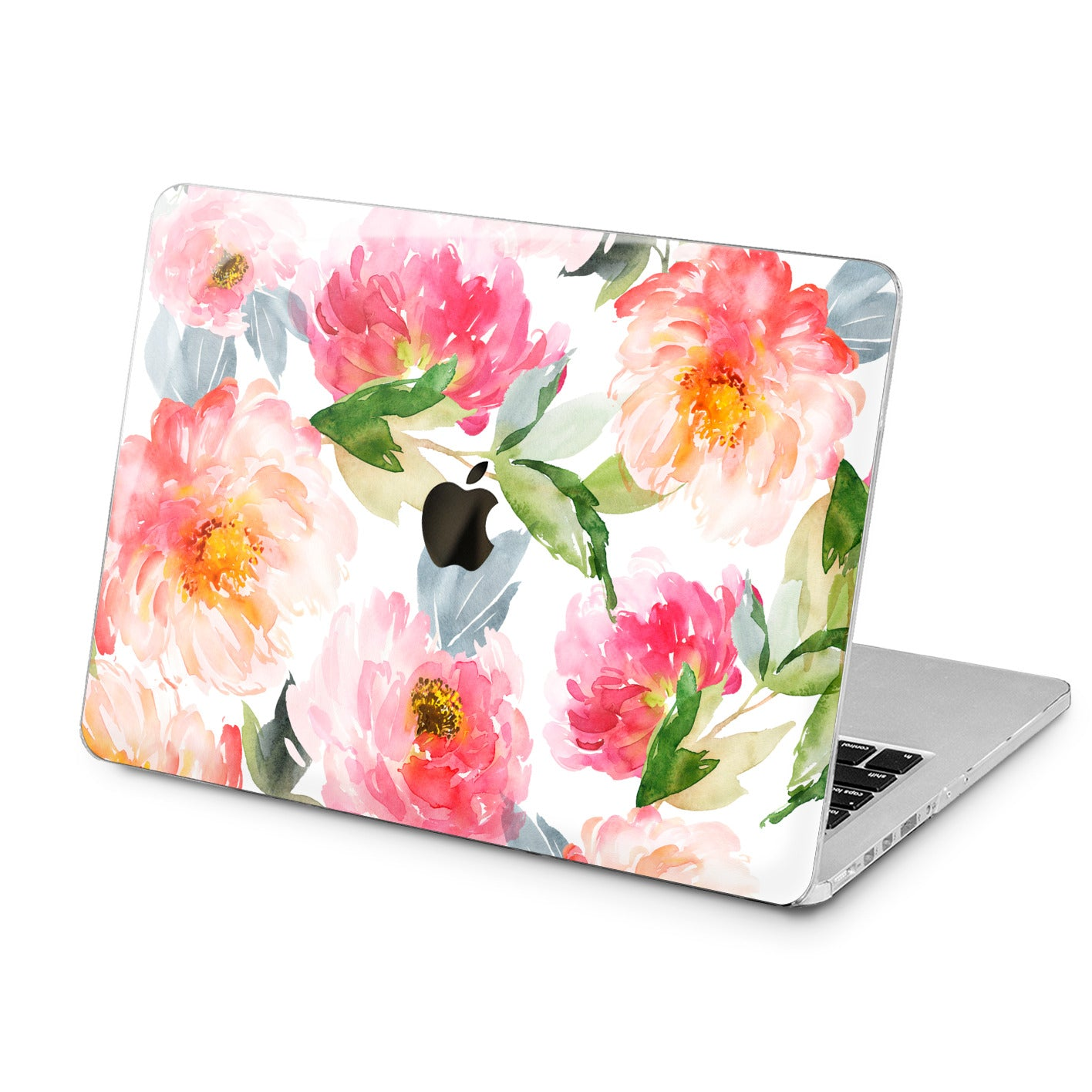 Lex Altern Lex Altern Watercolor Peony Theme Case for your Laptop Apple Macbook.