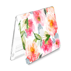 Lex Altern Hard Plastic MacBook Case Watercolor Peony Theme