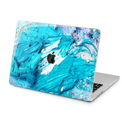 Lex Altern Lex Altern Blue Gouaches Art Case for your Laptop Apple Macbook.