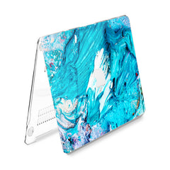 Lex Altern Hard Plastic MacBook Case Blue Gouaches Art