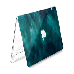 Lex Altern Hard Plastic MacBook Case Dark Emerald Print