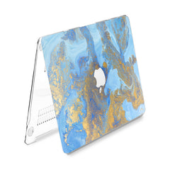 Lex Altern Hard Plastic MacBook Case Beautiful Blue Paint