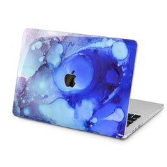 Lex Altern Lex Altern Abstract Blue Theme Case for your Laptop Apple Macbook.