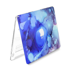 Lex Altern Hard Plastic MacBook Case Abstract Blue Theme