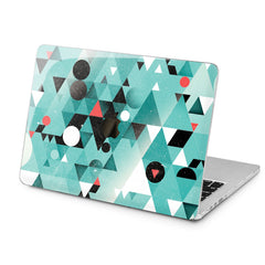 Lex Altern Lex Altern Green Triangles Abstract Case for your Laptop Apple Macbook.