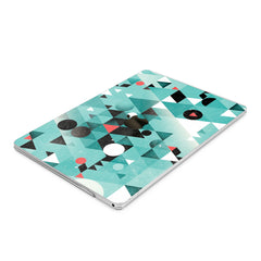 Lex Altern Hard Plastic MacBook Case Green Triangles Abstract