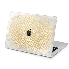 Lex Altern Lex Altern Golden Pattern Case for your Laptop Apple Macbook.
