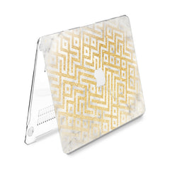 Lex Altern Hard Plastic MacBook Case Golden Pattern