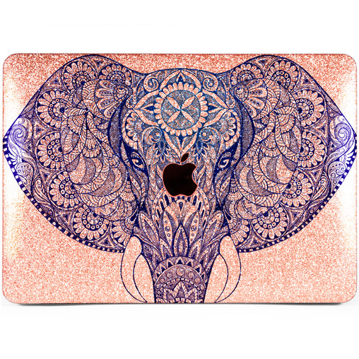 Lex Altern MacBook Glitter Case Indian Elephant