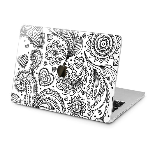 Lex Altern Lex Altern Arabic Black Pattern Case for your Laptop Apple Macbook.