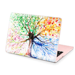 Lex Altern Hard Plastic MacBook Case Colored Tree Art