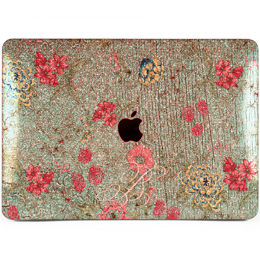 Lex Altern MacBook Glitter Case Vintage Pink Flowers