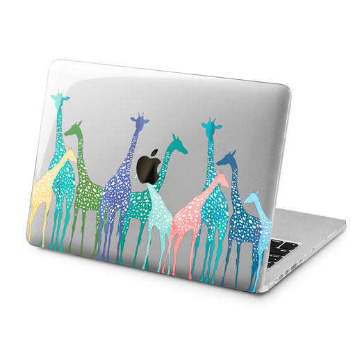 Lex Altern Lex Altern Colorful Giraffes Case for your Laptop Apple Macbook.