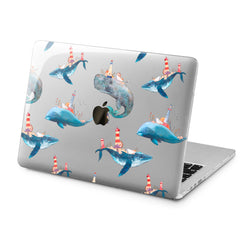 Lex Altern Lex Altern Cute Whales Case for your Laptop Apple Macbook.