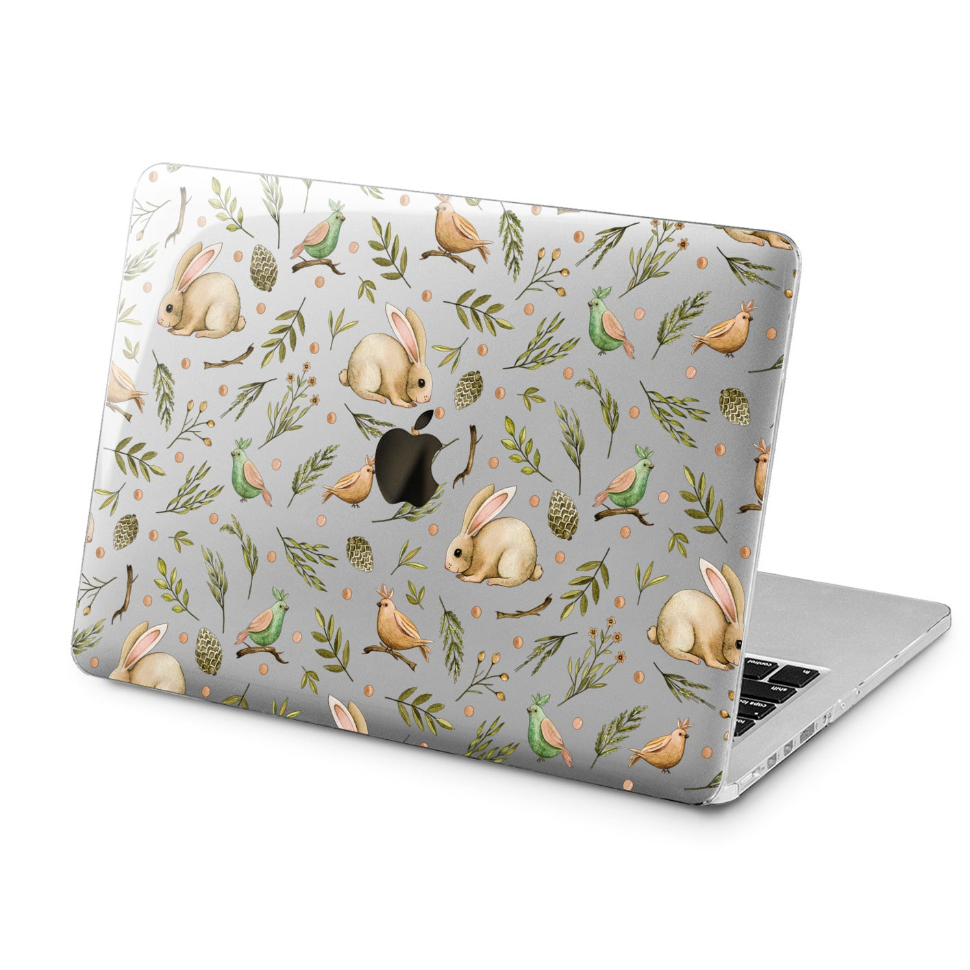 Lex Altern Lex Altern Rabbit Pattern Case for your Laptop Apple Macbook.