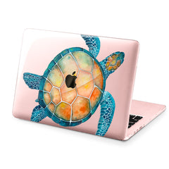 Lex Altern Hard Plastic MacBook Case Watercolor Turtle