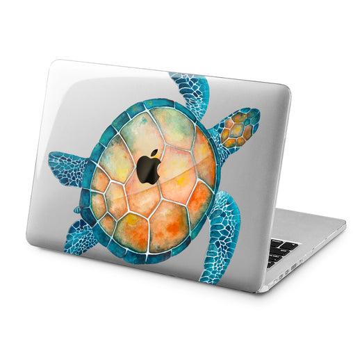 Lex Altern Lex Altern Watercolor Turtle Case for your Laptop Apple Macbook.