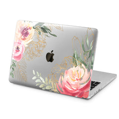 Lex Altern Lex Altern Peonies Watercolor Case for your Laptop Apple Macbook.