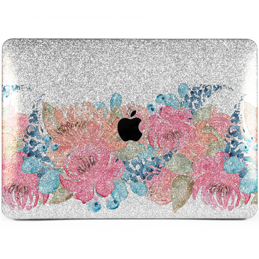 Lex Altern MacBook Glitter Case Vintage Flowers