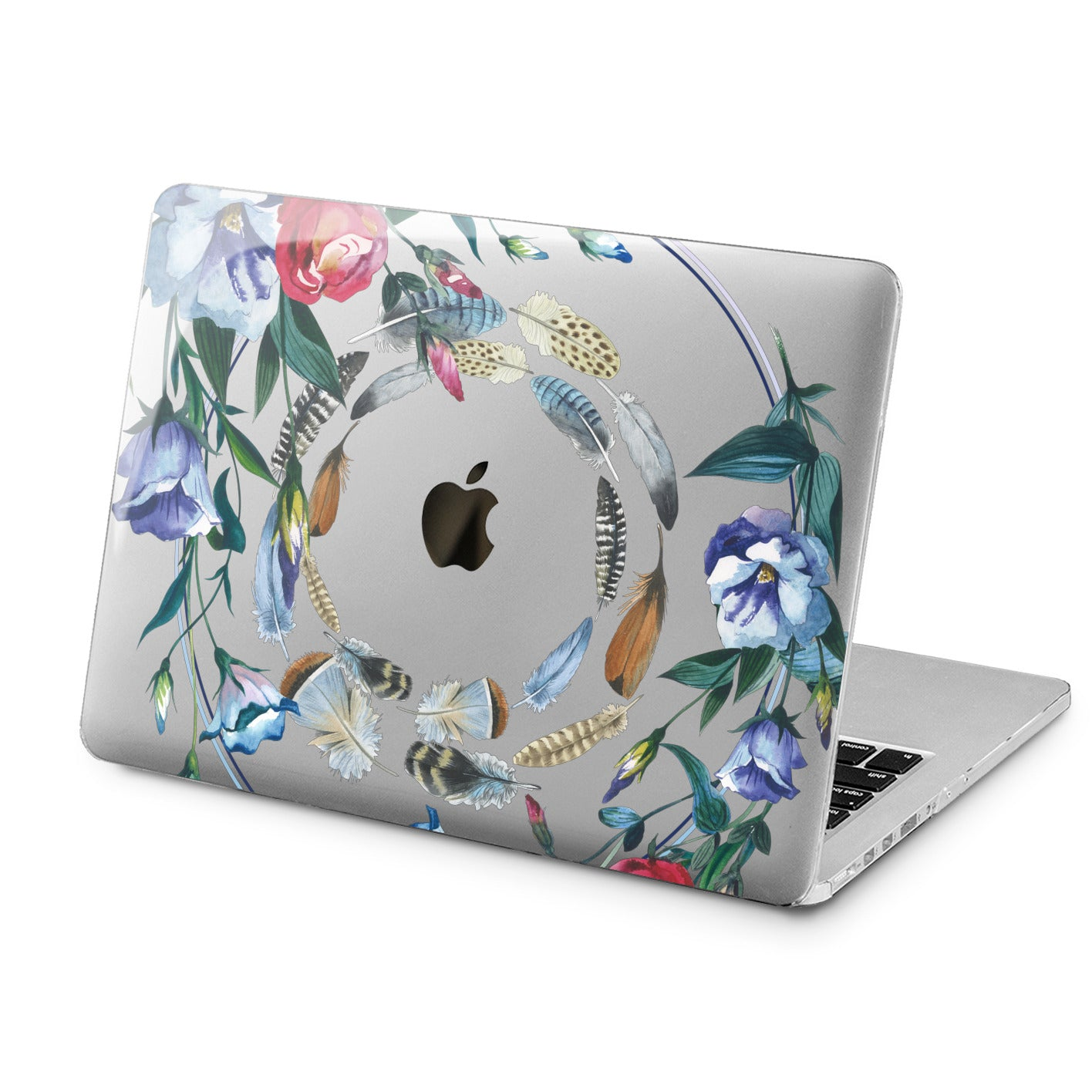 Lex Altern Lex Altern Floral Feathers Case for your Laptop Apple Macbook.