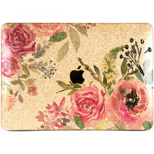 Lex Altern MacBook Glitter Case Rose Boossom