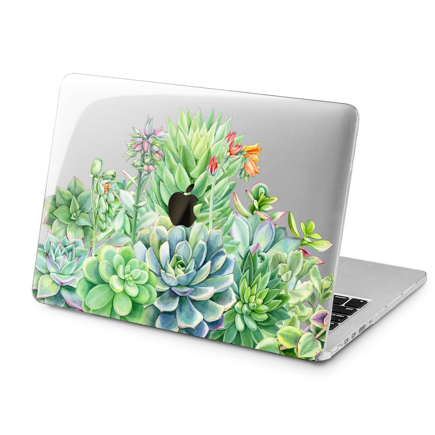 Lex Altern Lex Altern Greeen Succulents Case for your Laptop Apple Macbook.