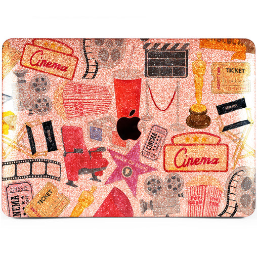 Lex Altern MacBook Glitter Case Cinema Pattern