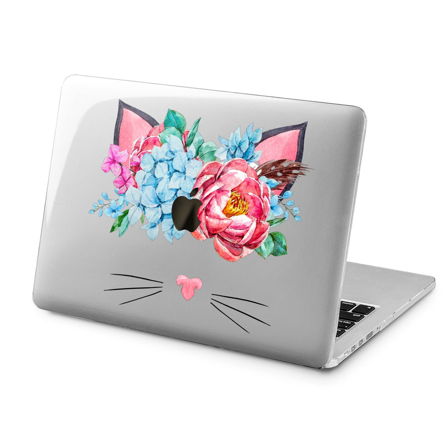 Lex Altern Lex Altern Floral Cat Case for your Laptop Apple Macbook.