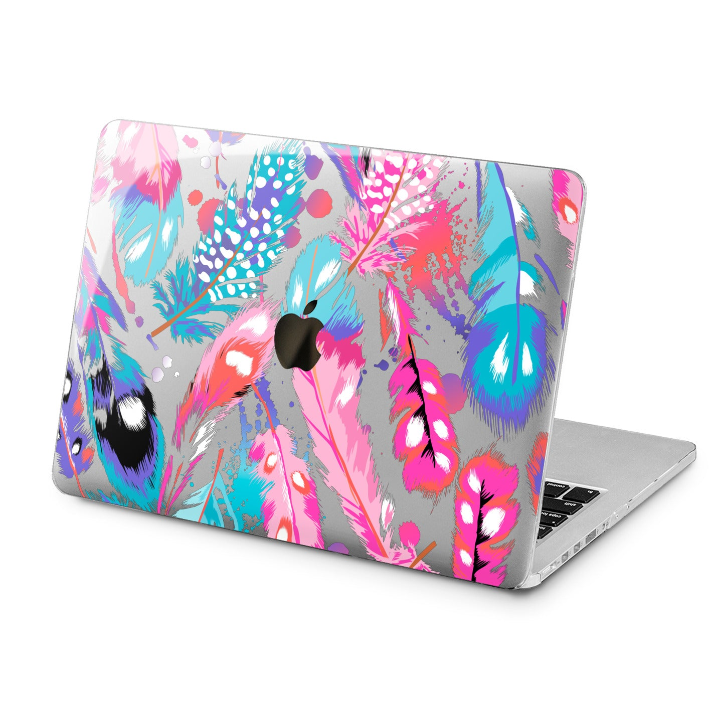 Lex Altern Lex Altern Pink Feathers Case for your Laptop Apple Macbook.