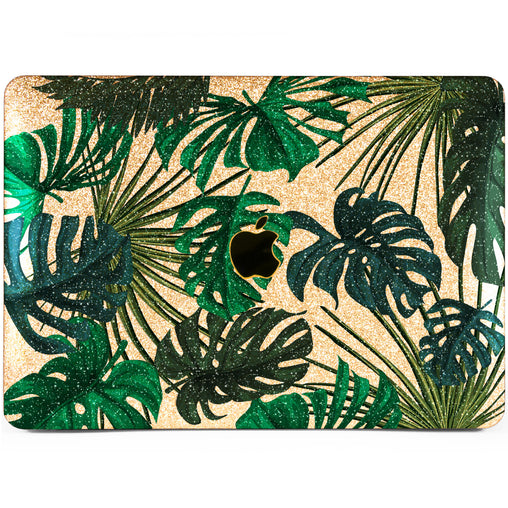 Lex Altern MacBook Glitter Case Monstera Pattern