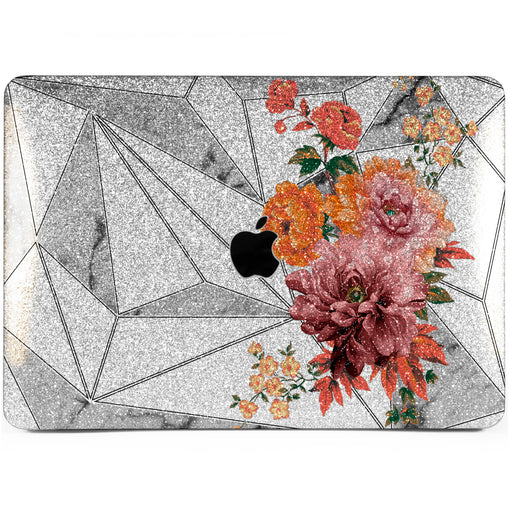 Lex Altern MacBook Glitter Case Geometric Blossom