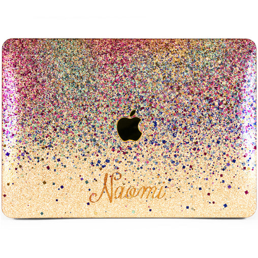 Lex Altern MacBook Glitter Case Purple Confetti
