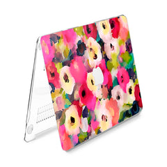Lex Altern Hard Plastic MacBook Case Abstract Flowers