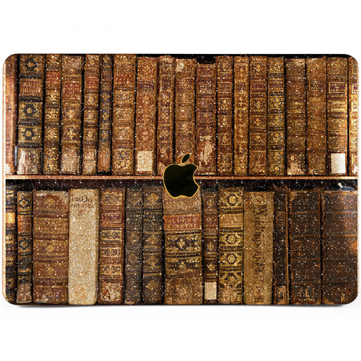 Lex Altern MacBook Glitter Case Old Books