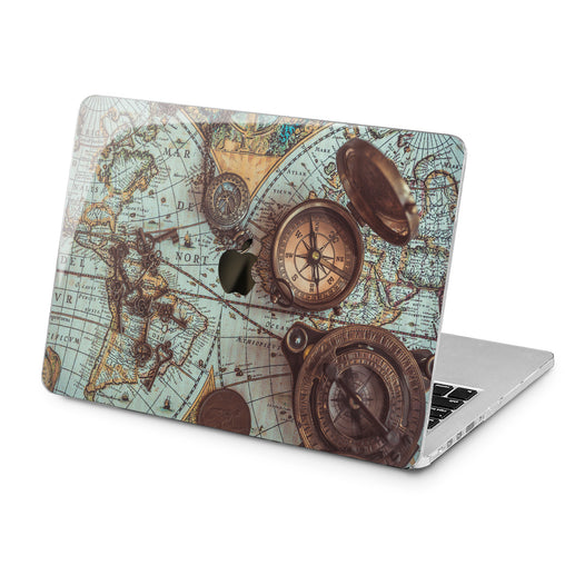 Lex Altern Lex Altern Antique Compass Case for your Laptop Apple Macbook.