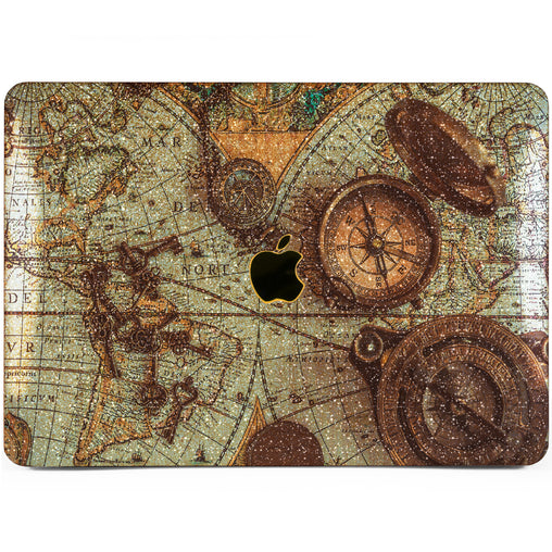 Lex Altern MacBook Glitter Case Antique Compass