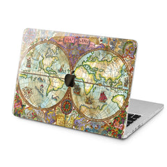 Lex Altern Lex Altern Vintage Map Case for your Laptop Apple Macbook.