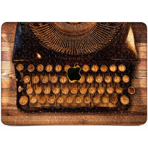 Lex Altern MacBook Glitter Case Retro Typewriter