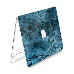 Lex Altern Hard Plastic MacBook Case Blue Wood