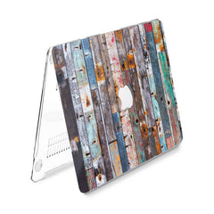 Lex Altern Hard Plastic MacBook Case Rustic Wood