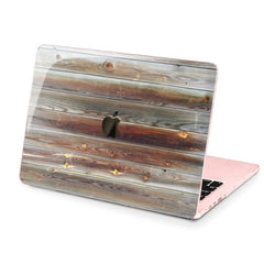 Lex Altern Hard Plastic MacBook Case Old Wood